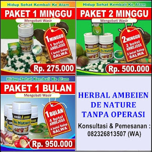 KAPSUL AMBEJOSS & SALEP SALWA (Obat Ambeien Herbal Tanpa Operasi)