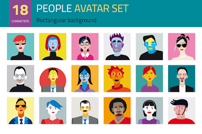 https://creativemarket.com/Jesussanz/1510-People-Avatar-Set