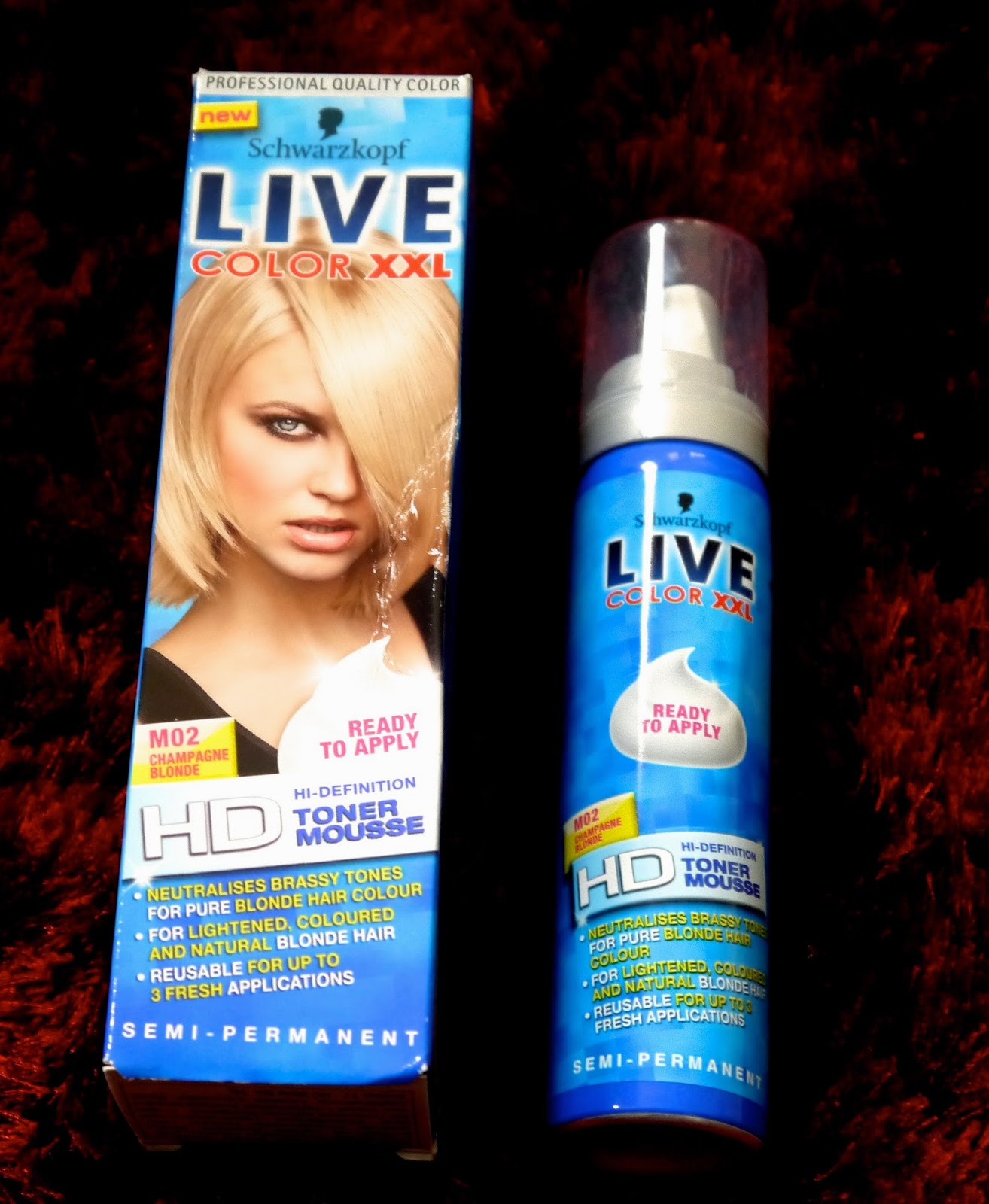 Live Colour Xxl Toner Mousse For Blonde Hair Before After