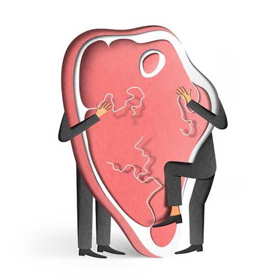 eiko ojala ilustração cortes de papel Faminto por amor