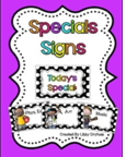 http://www.teacherspayteachers.com/Product/Daily-Specials-Signs-Black-and-White-Polka-Dot-1152026