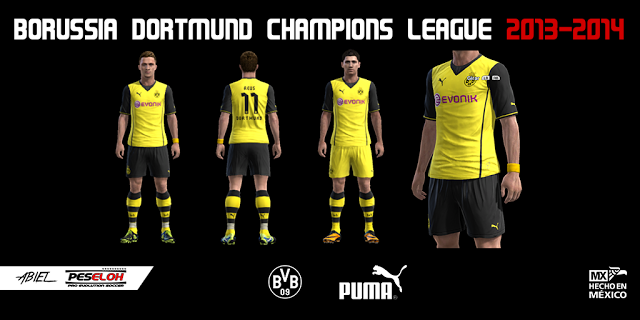 Borussia dortmund 1314 champions league kit patch
