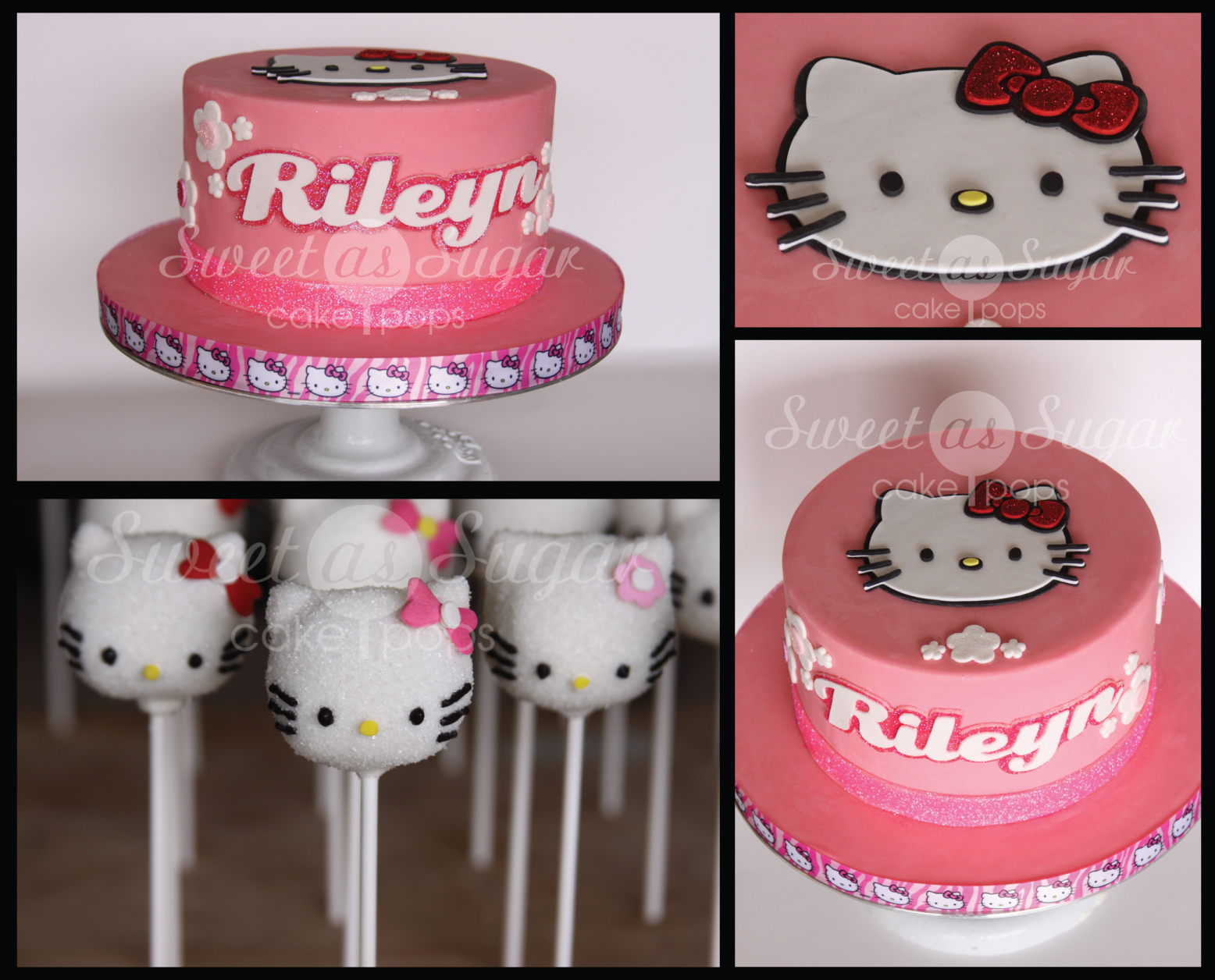 Hellooo Kitty 1st Birthday Cake And Pops Sweet As Sugar