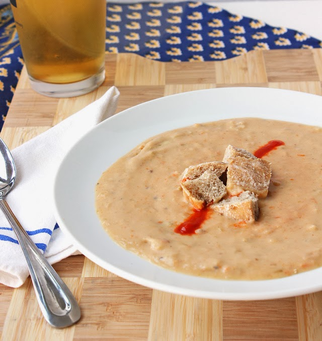 Easy Leftover Thanksgiving Mashed Potato Beer Cheese Soup Recipe
