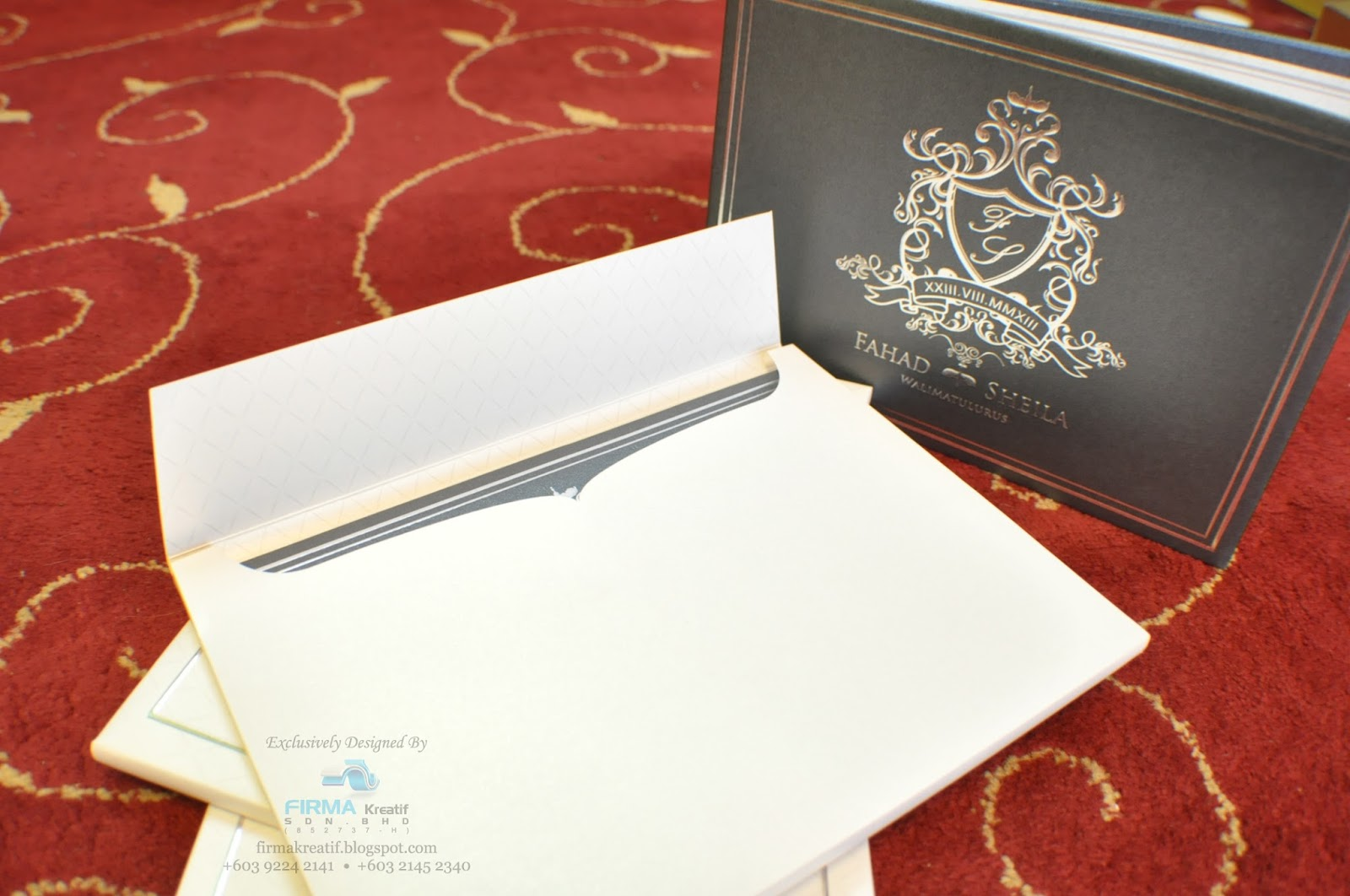 Wedding card hardcover fahad marsheila firma kreatif sdn bhd wedding stopboris Gallery