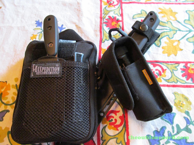 Nitecore EA4 Pioneer 4xAA Flashlight - Shown With Maxepedition EDC Pouch and Cold Steel Tanto GI Fixed Blade Knife