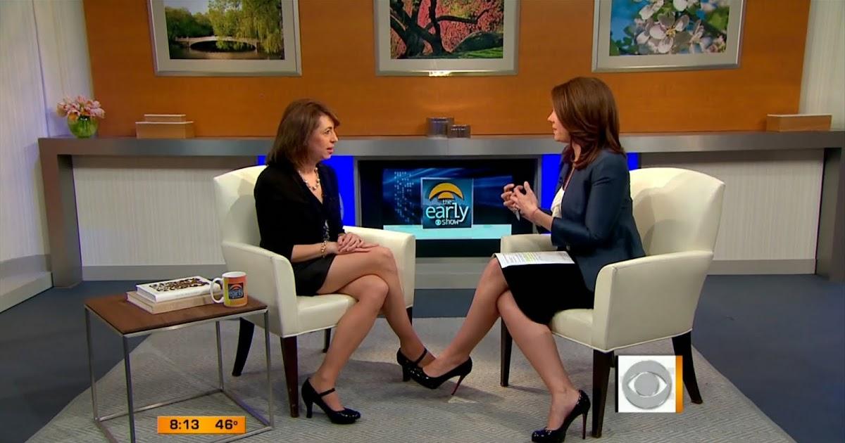 Erica Hill On Cbs Early Show Sexy Leg Cross