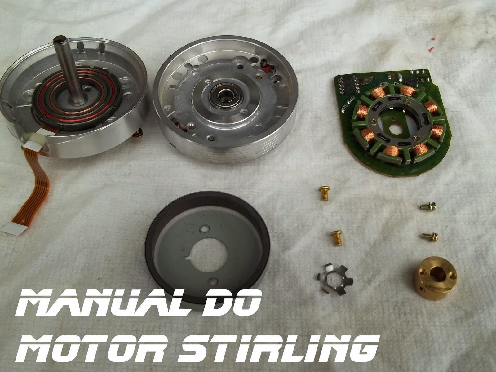 Manual do motor Stirling, cabeçote de aparelho de vídeo cassete desmontado