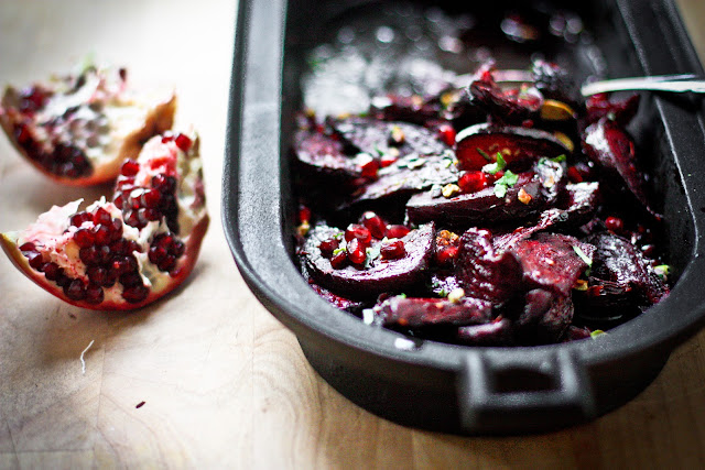 Moroccan Roasted Beets with Pomegranate