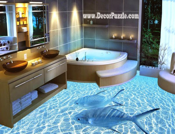 3d Bathroom Floor Murals Designs An