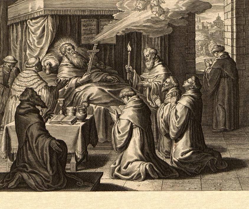 San Agustín en su lecho de muerte