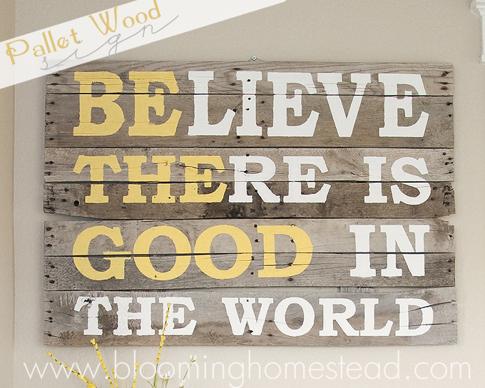 Pallet Wood Sign by Blooming Homestead