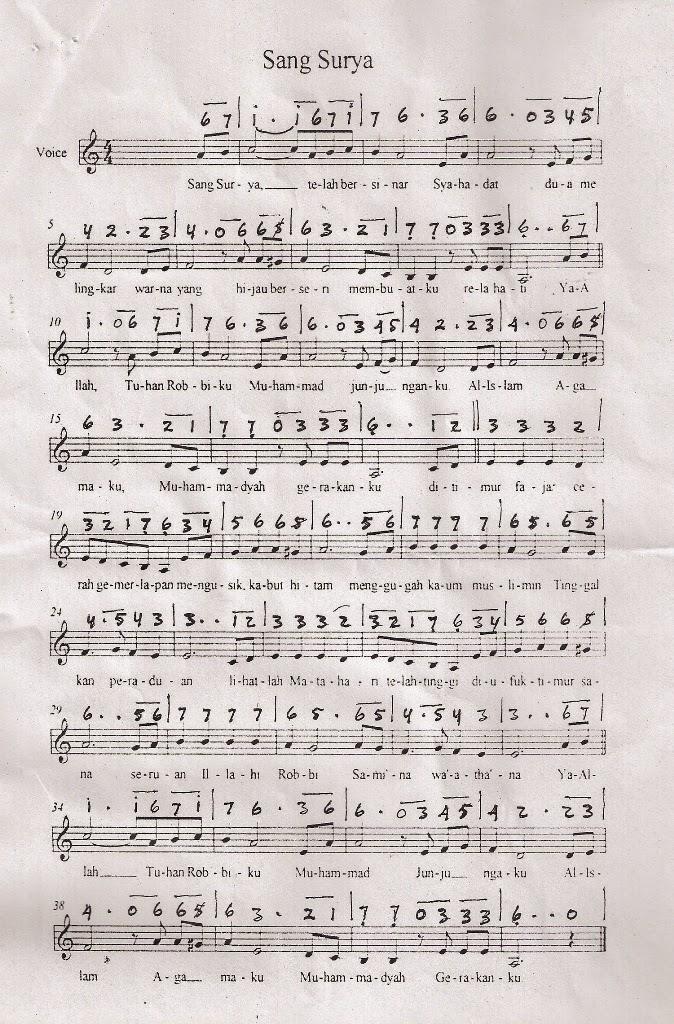 Instrumen lagu mars sang surya