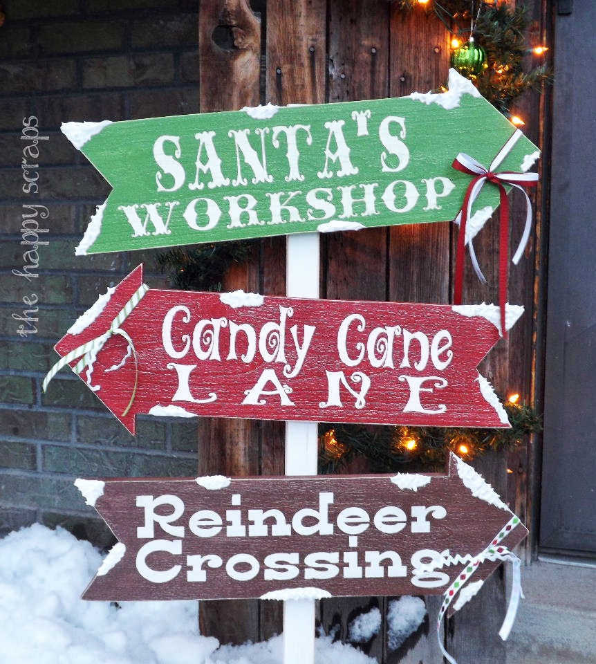 Christmas arrows the wood connection blog for Sign decoration