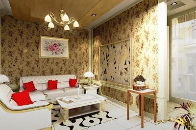 Model Wallpaper Dinding Rumah krem