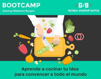 Primer bootcamp para Startup Weekend Burgos... no te la vayas a perder