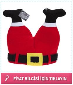 Noel Baba Pantolonu Yılbaşı Şapkası