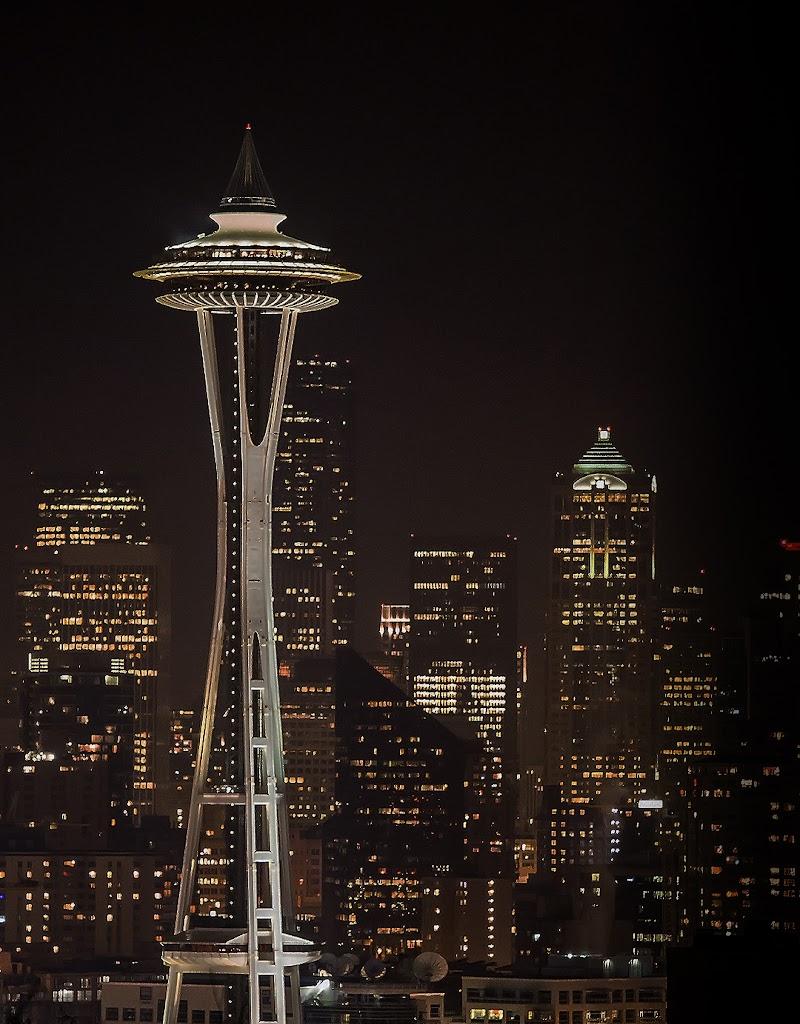 Обои ночной город, ночь, seattle. Города foto 10