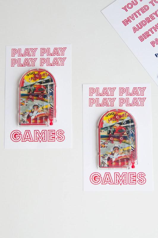 Aesthetic Nest Invites Audreys Arcade Birthday Party Invitation