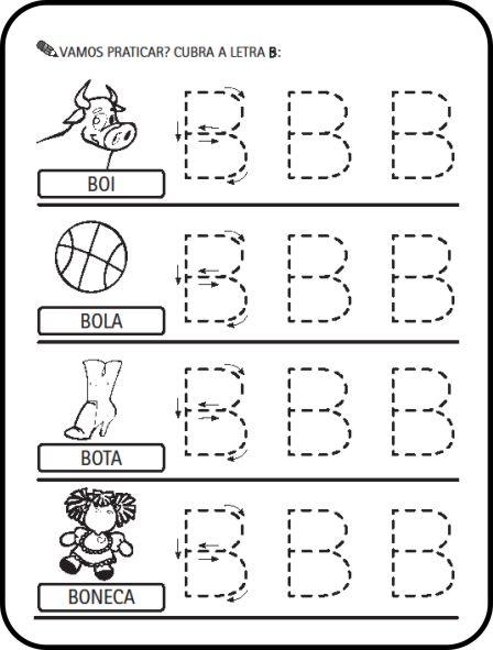 Alfabeto Ilustrado Letras Pontilhadas Para Cobrir Colorir Atividades