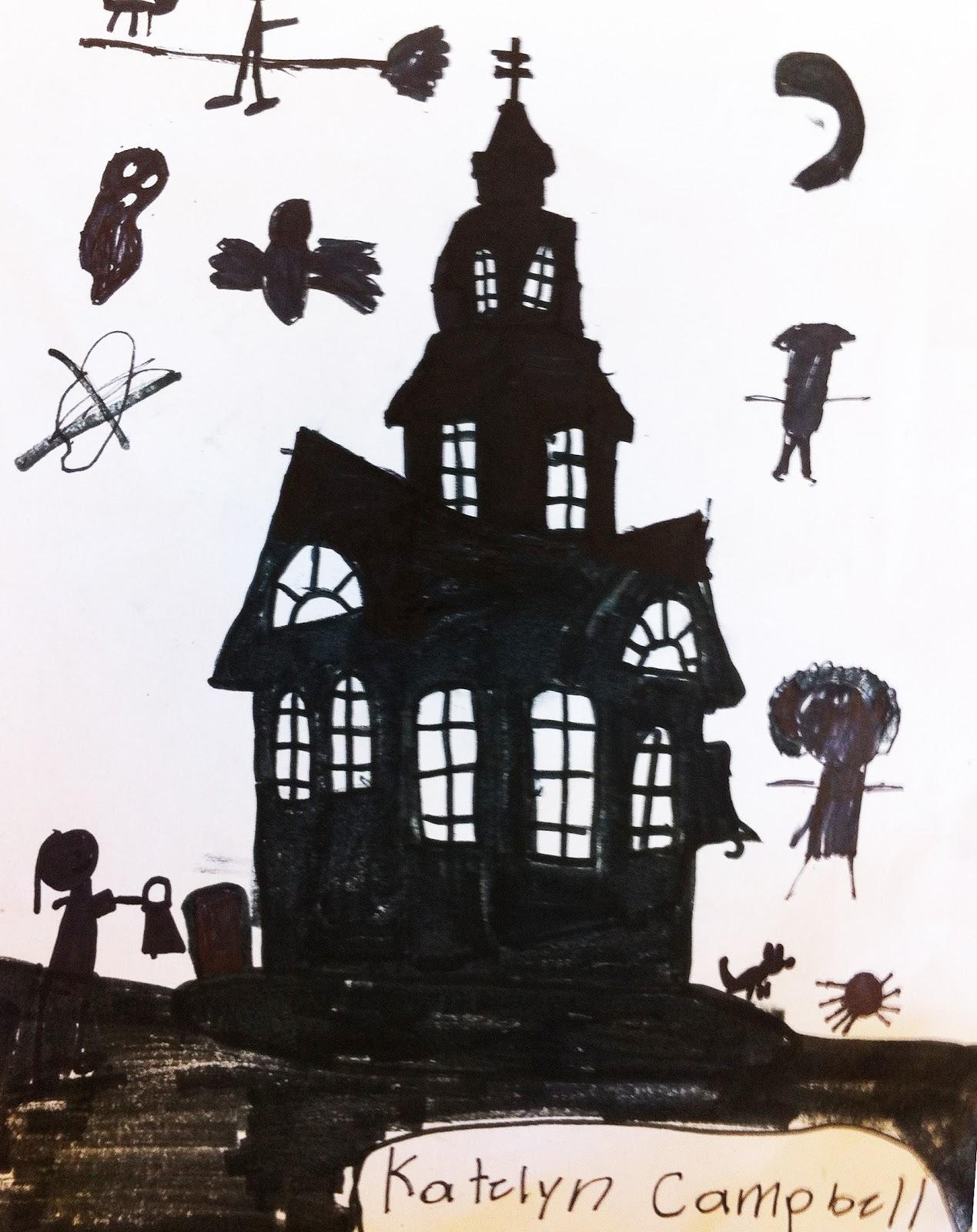 sacred heart art room silhouette haunted house. Black Bedroom Furniture Sets. Home Design Ideas