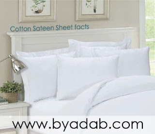 Cotton sateen sheet have a high thread count and are pure cotton sheets.