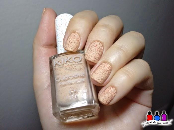 Kiko, Cupcake, 649, Apricot, salmão, laranja, texturizado, sand, Caminie,