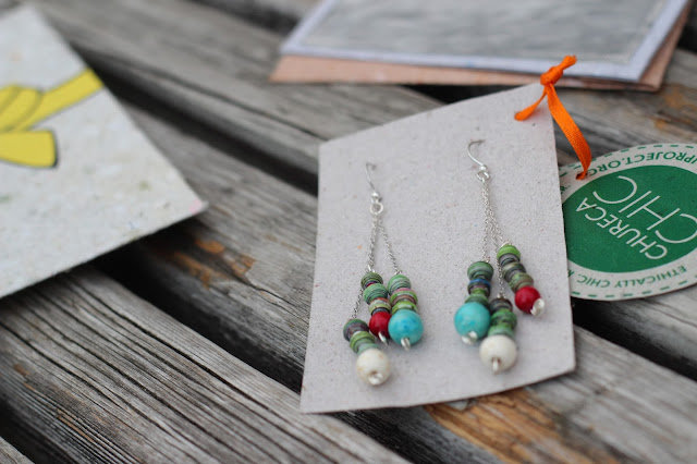 Nicaragua, recycled paper jewelry