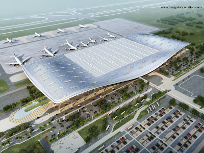Bengaluru International Airport Terminal 1 expansion plan top view