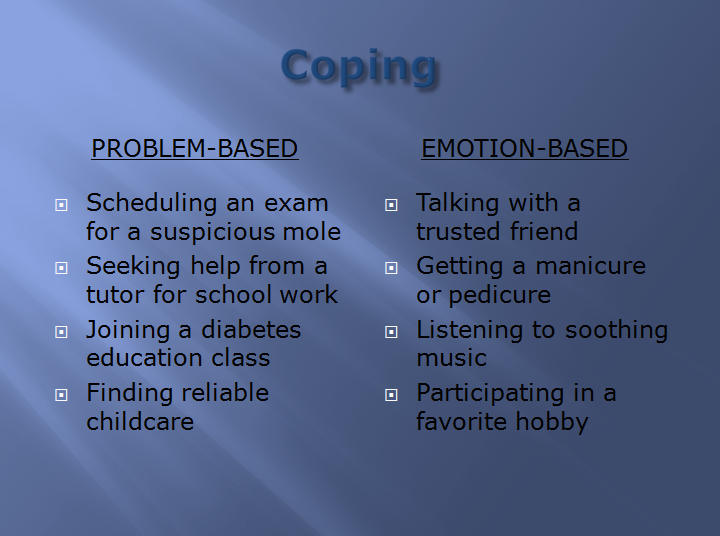 essay on coping with stress