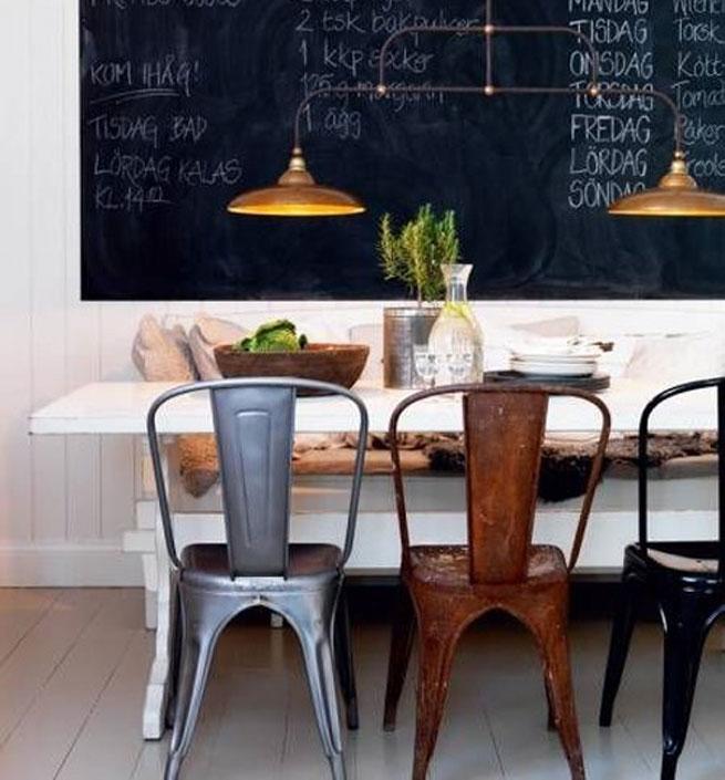 Decorando y renovando objetos ic nicos sillas tolix for Comedor vintage chile