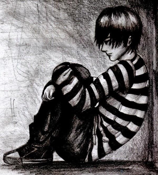 sad alone boy picture image