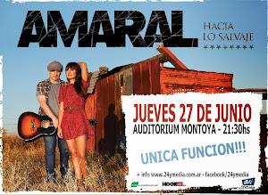 AMARAL EN POSADAS!!! JUEVES 27 DE JUNIO 2013