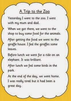 Write a recount year 5