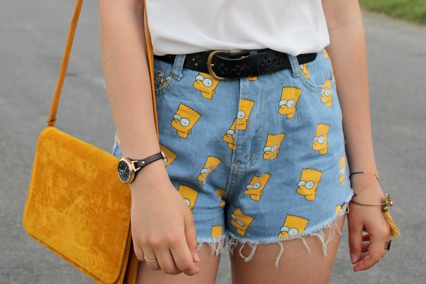 Short jean Bart Simpson