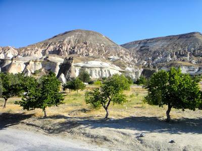 The road between Goreme and Zelve Turkey