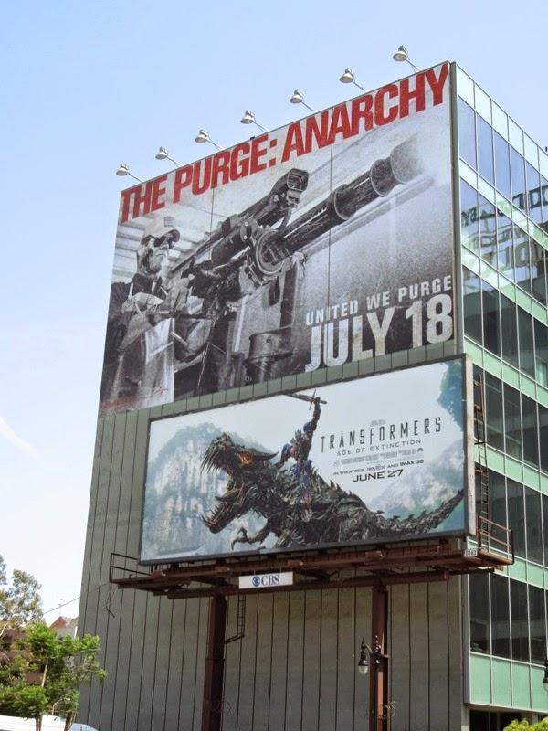 The Purge Anarchy giant movie billboard
