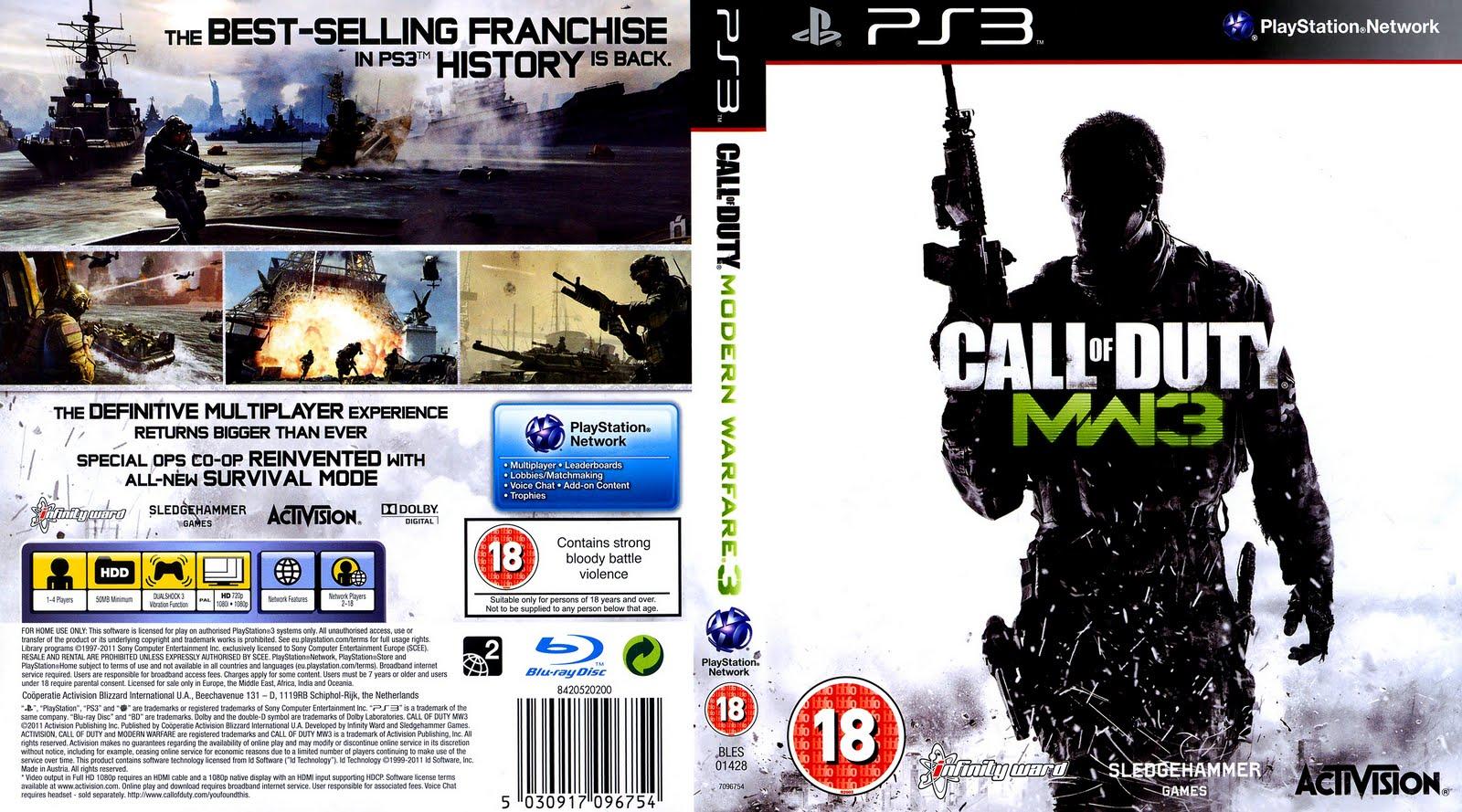 Caratula De Call Of Duty Modern Warfare 3 PlayStation 3