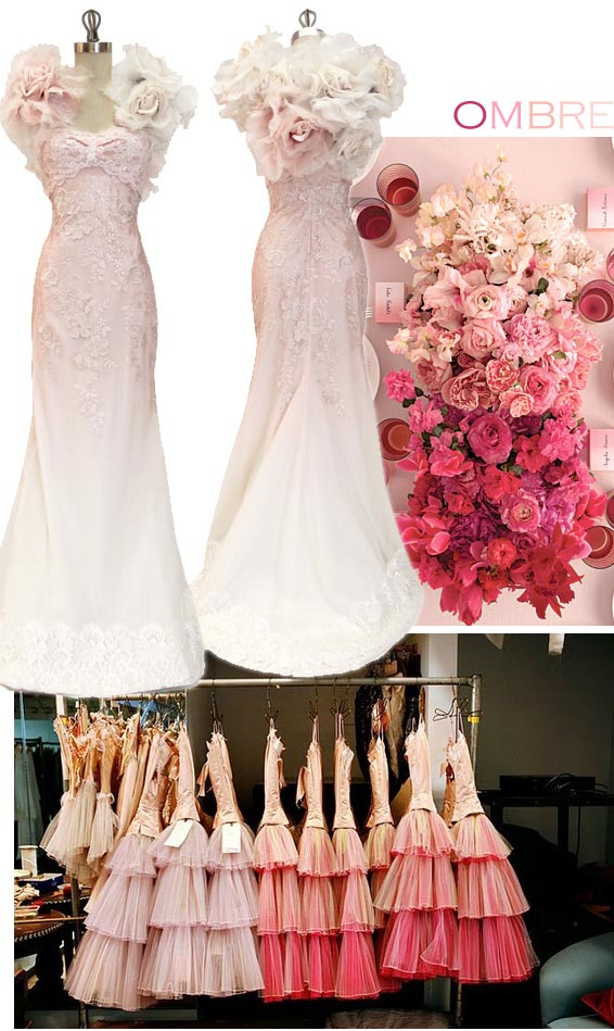 Inspiration songket affairs trend alert ombre fabulous for Pink ombre wedding dress