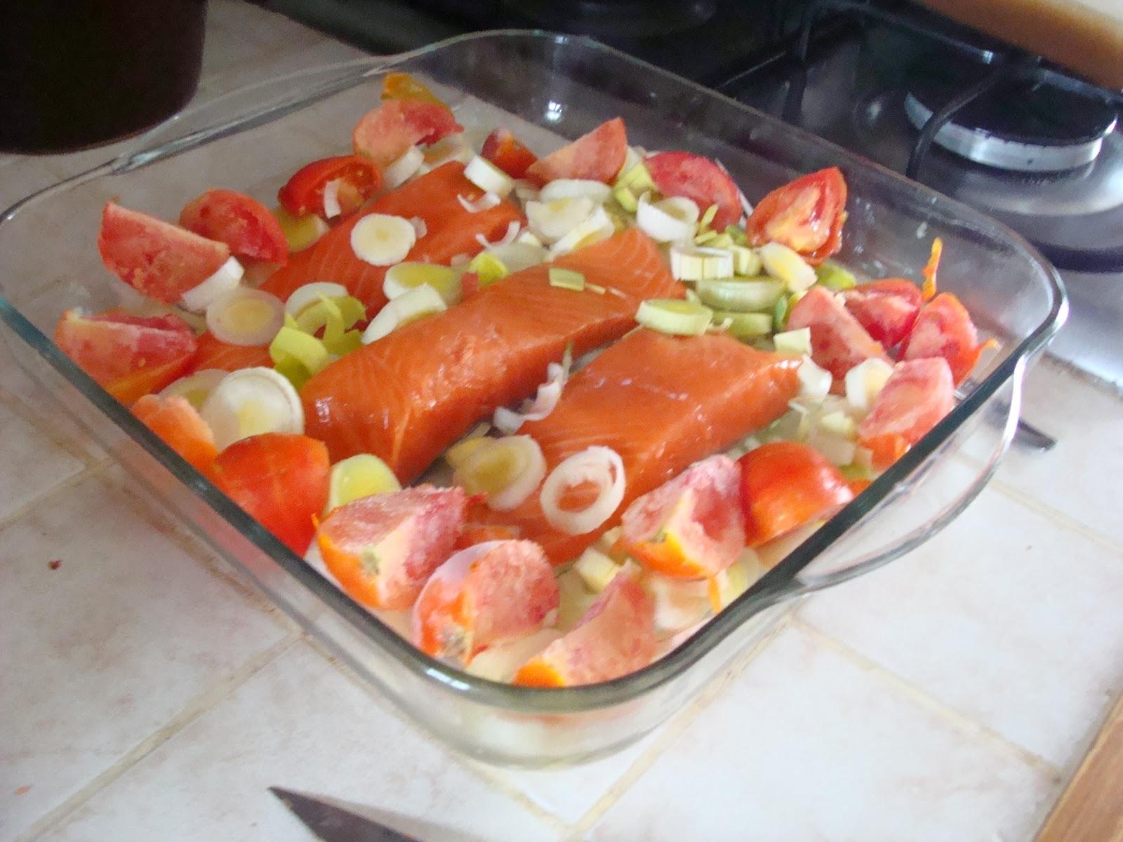 Cuisinons bien ensemble pav s de saumon au four - Comment cuisiner des paves de saumon ...
