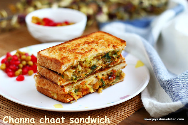 Aloo channa chaat- sandwich