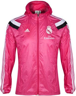 Gambar Anthem Jacket Real Madrid 2014 - 2015 Jaket  Parasut Real Madrid Pink Official Waterproof