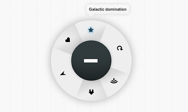 CSS3 clickable, rotating menu