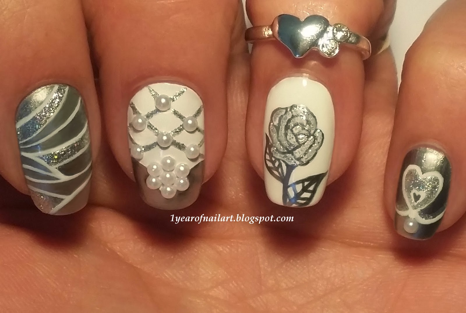 365 days of nail art swatches review and wedding nails with posted prinsesfo Gallery