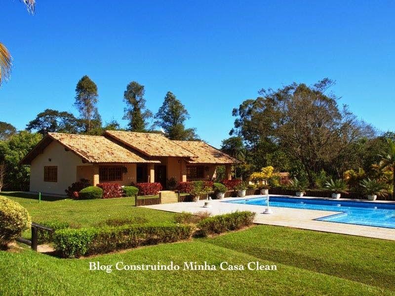 Construindo minha casa clean fachadas de casas de campo maravilhosas - Fachadas de casa de campo ...