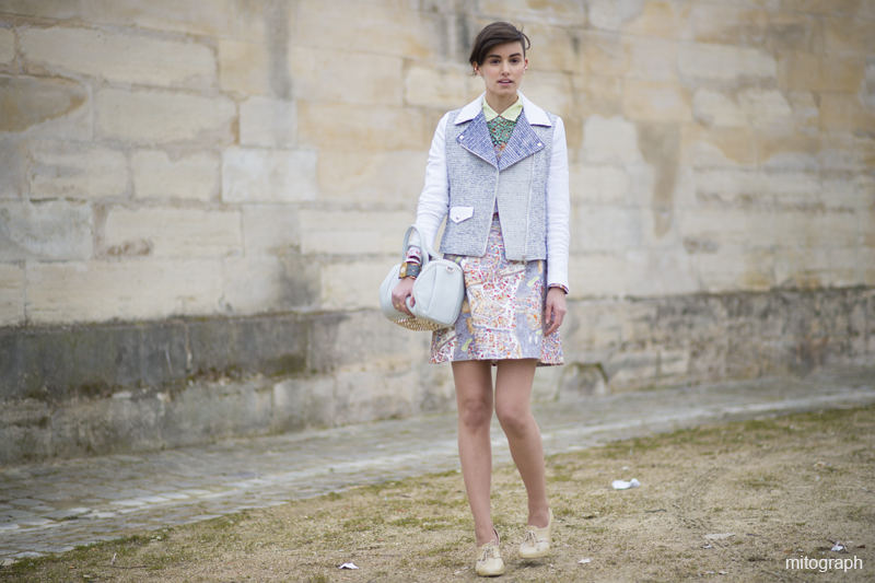 Anne Catherine Frey Street Style Paris Fashion Week 2013 Fall Winter