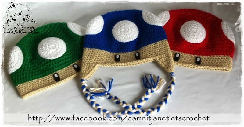 Damn It Janet Lets Crochet Mario Bros Mushroom Beanie