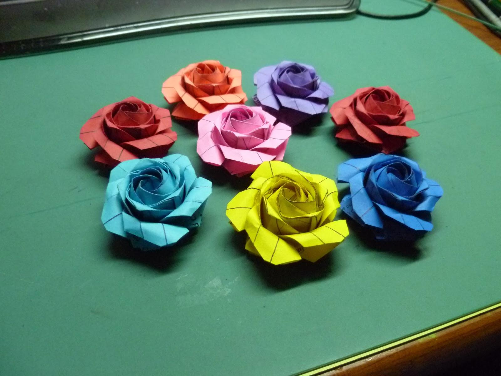 Origami Maniacs Origami Pentagon Rose By Sato Naomiki