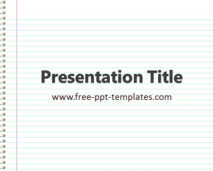 Notebook paper powerpoint template free toneelgroepblik Choice Image