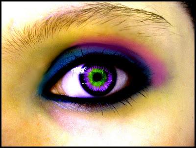 Beautiful Blue Eyes And Rainbow Designs